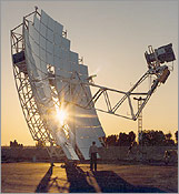 A land-based solar dish-engine system